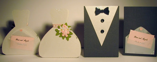 My most recent hand created wedding favors...