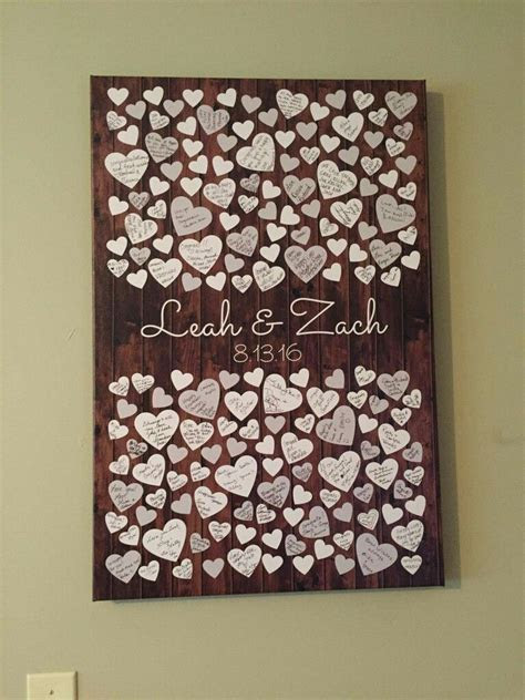 Such a sweet idea for a guest book! Made by: Peachwik   i