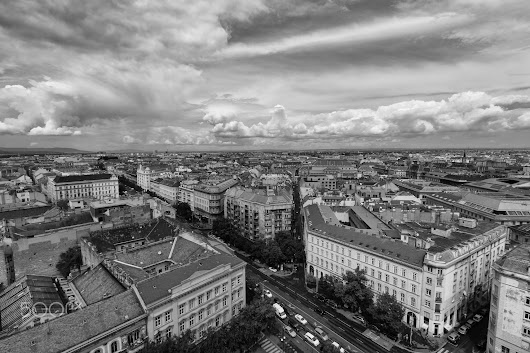 Budapest city in wide angle