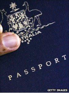 File picture of an Australian passport