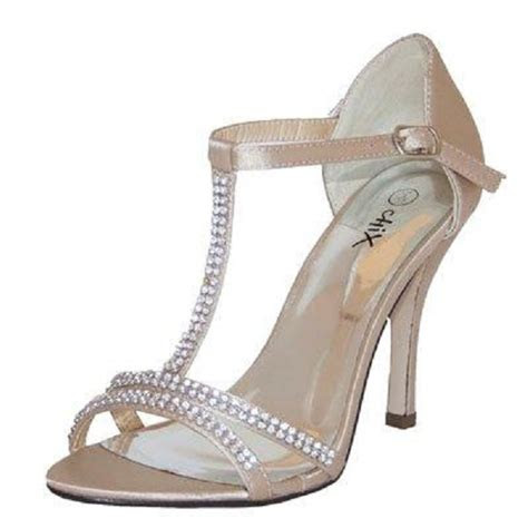 champagne special occasion shoes  crystals wedding
