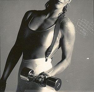 DeBarra Mayo in workout gear 1987. Photo prese...