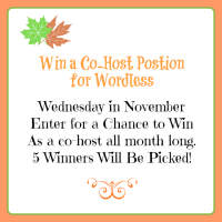 WIn a co-host position for November