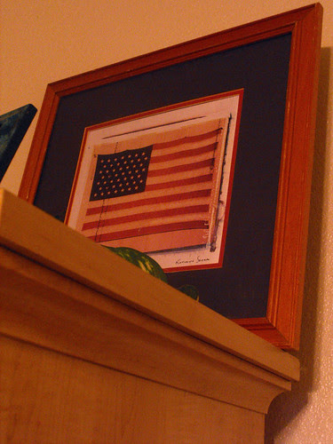 Flag Picture above Armoire