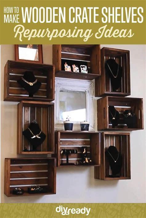 DIY Wooden Crate Shelves DIYReady.com   Easy DIY Crafts
