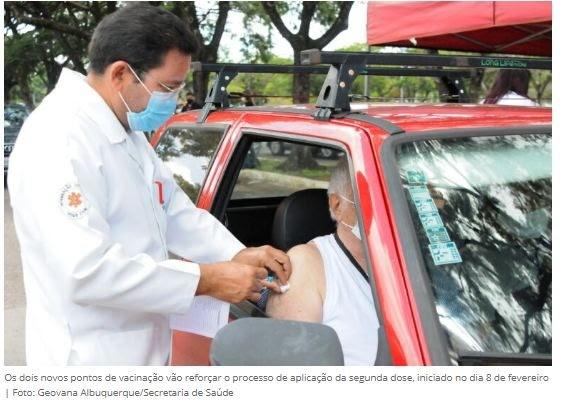 Gama e Santa Maria ganham drive-thru para vacinação