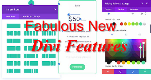 Divi features - fabulous new Divi features that you'll absolutely love