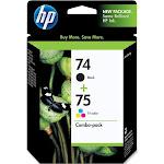 HP 74/75 Ink Cartridge, Dye-based tricolor/Pigmented Black - 2-pack