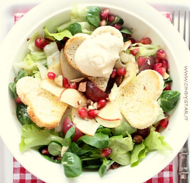 insalata con gelato al grana