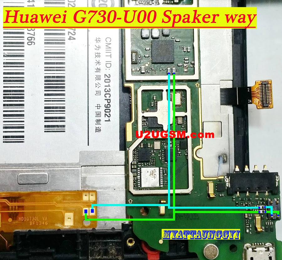 Huawei G730-U00 Earpiece Solution Ear Speaker Problem Jumper Ways
