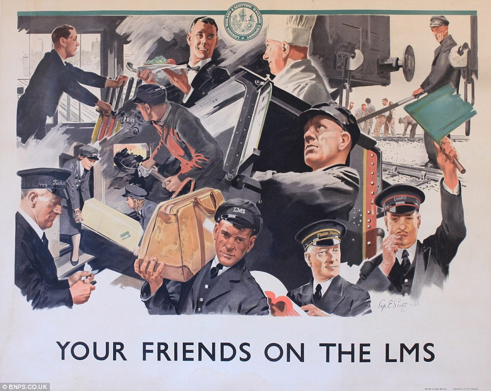 Bygone age: The posters were left in the house by a former owner who worked on the railways