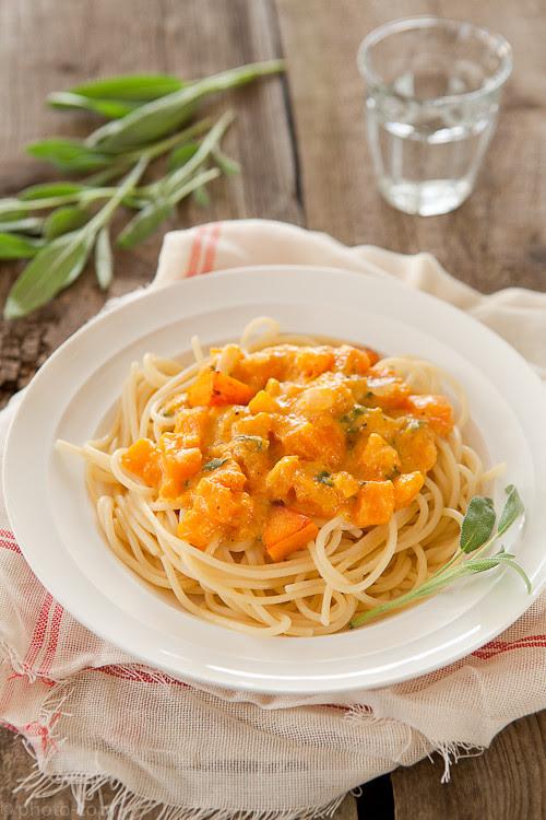 pumkin pasta with sage