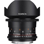 Rokinon Wide-Angle Lens for Nikon F - 14mm - T/3.1