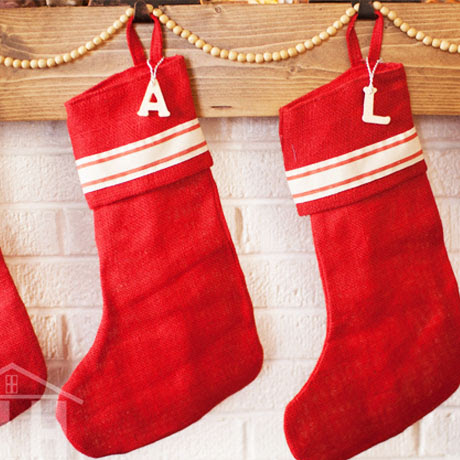 easy wooden christmas stocking tags diy farmhouse
