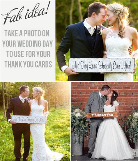 Fab Idea! Pose with a sign for your wedding thank you cards