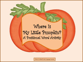 WHERE IS MY LITTLE PUMPKIN?