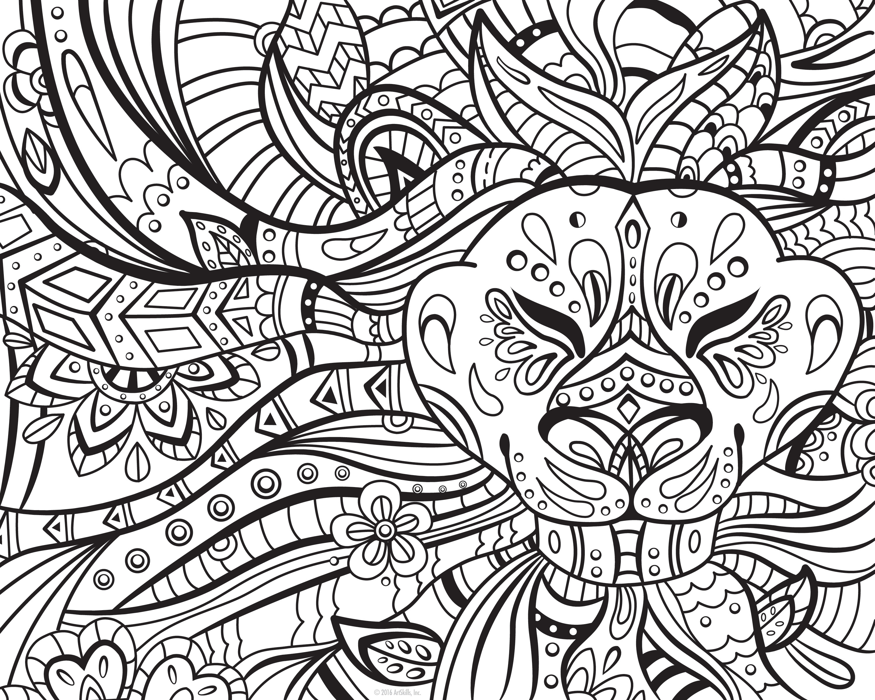 Adult Coloring: The Noble Lion