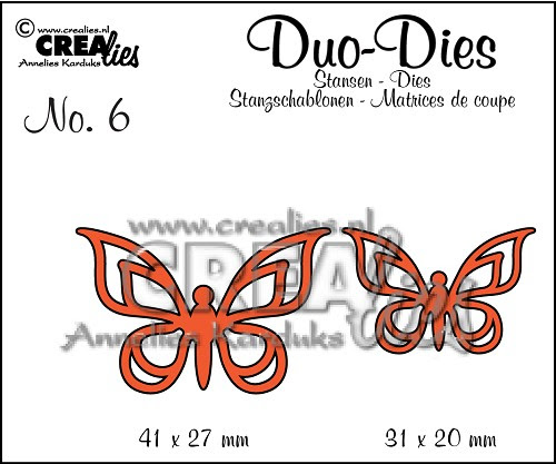 Duo Butterflies set no. 2