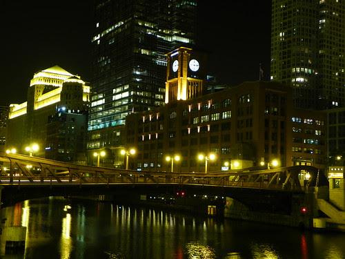 Chicago at night  9.27.2009 - Britannica Building