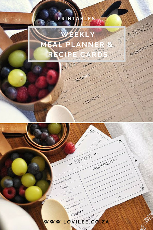 Download your weekly meal planner and recipe cards | Lovilee Blog