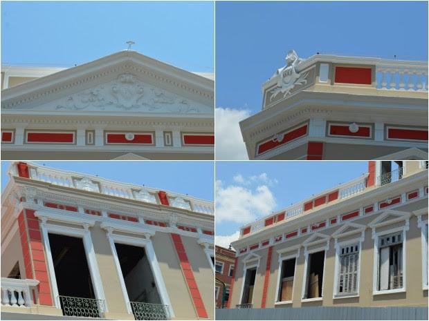 Palacete fica no Centro Histórico de Manaus (Foto: Divulgação/Semcom)