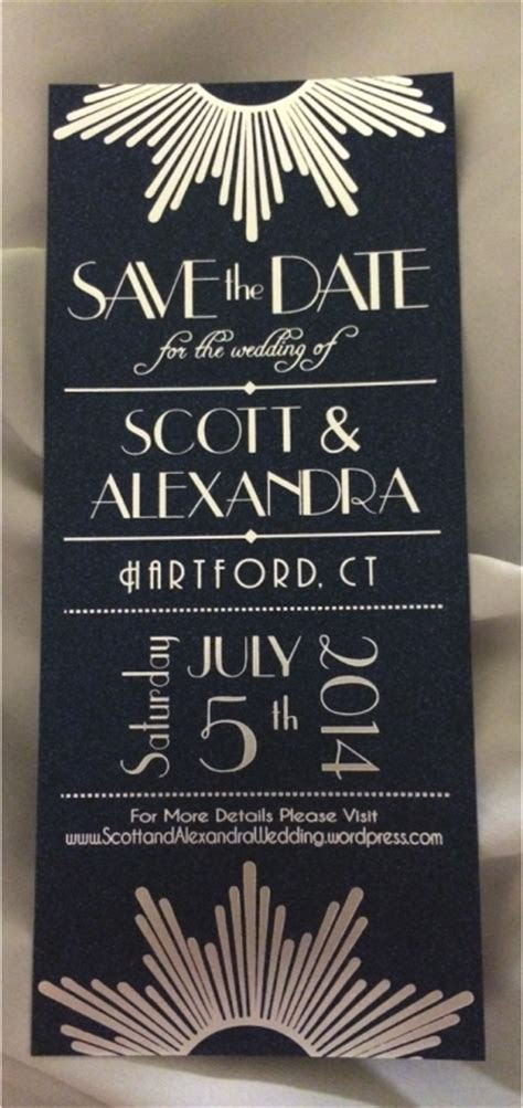 Art Decoish Save the Dates Lots of Glam! Pic Heavy