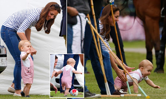 Playful Prince George at the polo