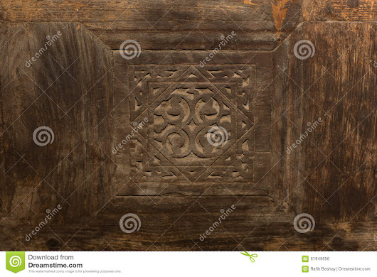 Islamic Wooden Design Background For Door In Egyptuan Mosque Stock Photo - Image: 61949656