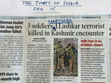 Narendra Modi hurts: Dear TOI its hurt when u compare a terrorist death to soldier martyrdom. Pls don't do this again.