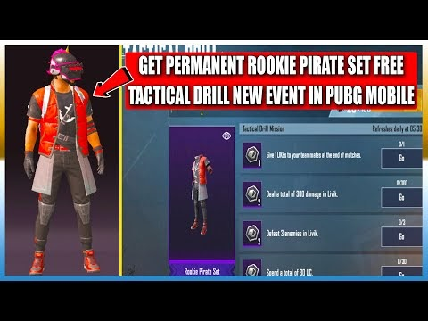 GET PERMANENT ROOKIE PIRATE SET FREE || TACTICAL DRILL NEW EVENT EXPLAIN...