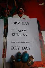 Happy Maharashtra Day Unhappy Dry Day Happy Sunday by firoze shakir photographerno1
