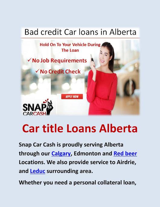 Bad Credit No Credit Car Loans Edmonton