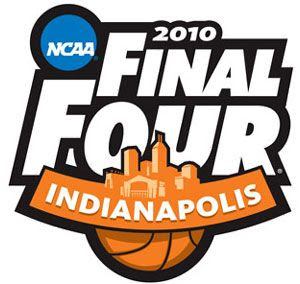 The logo for the 2010 NCAA Final Four tournament.