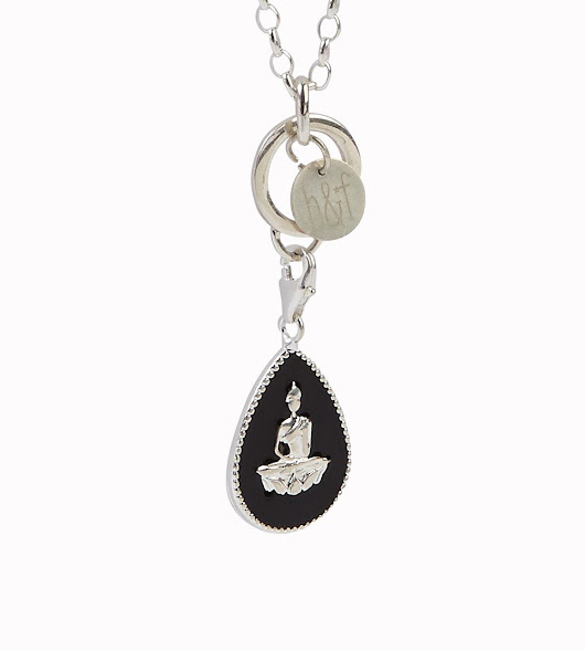 925 Sterling Silver Clip On Buddha Necklace