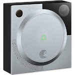 August Doorbell Cam Pro Doorbell camera - Wireless - Silver