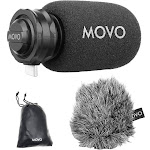 Movo Photo Directional Stereo Cardioid Microphone with USB Type-C Connector TPM100