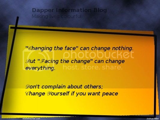 Change yourself if you want peace, thoughtsnlife, peace quotes, inspirational quotes