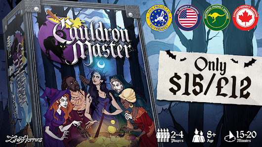 Cauldron Master - A deduction & set collection witch game!