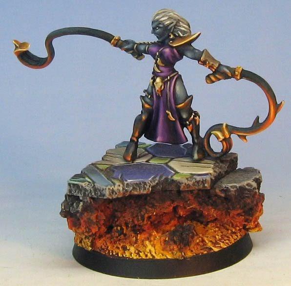 James Wappel Miniature Painting Dark Elf Hydra On