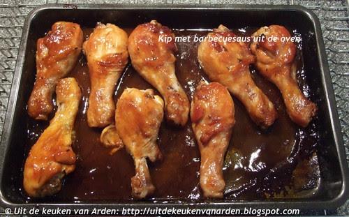 Kip met barbecuesaus uit de oven