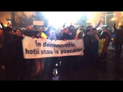 VIDEO Protest la Suceava, duminică, 5 februarie 2016