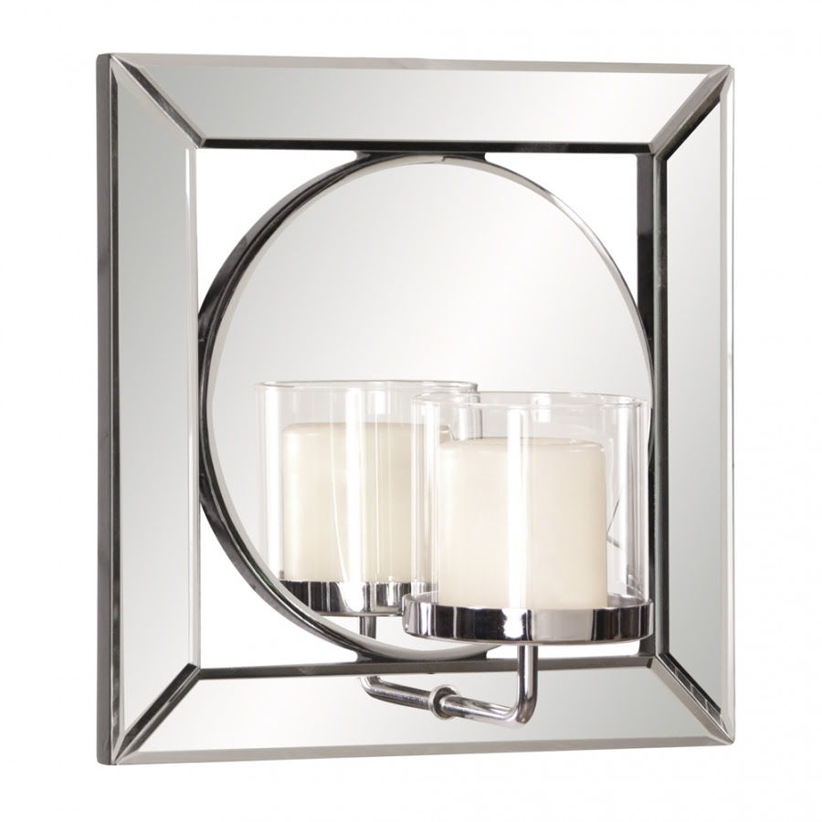 Lula Square Mirror with Candle Holder UVHE99073