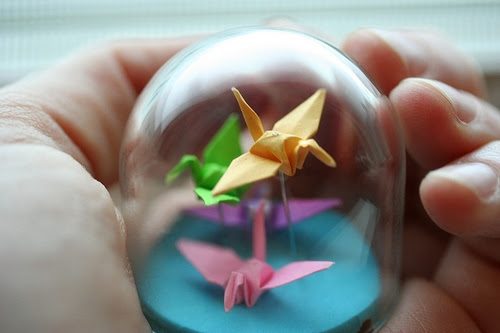 Origami-Crane-Globe