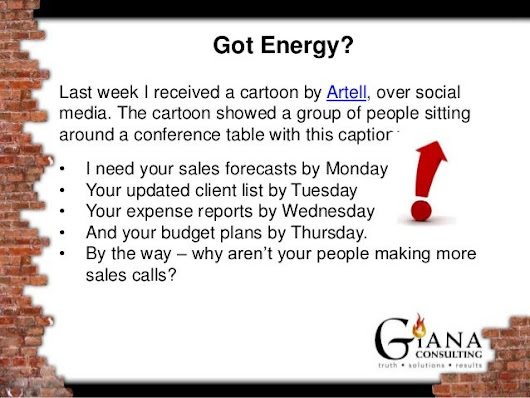 Got Energy?  You can't be successful without it!