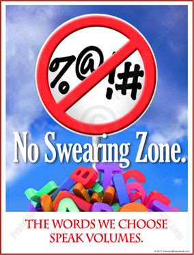 no swearing posters