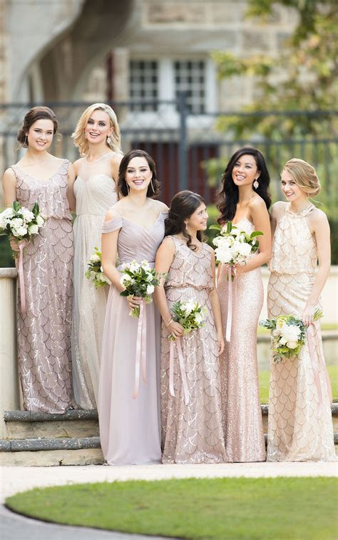 Flirty V Neck Sequin Bridesmaid Dress   Sorella Vita