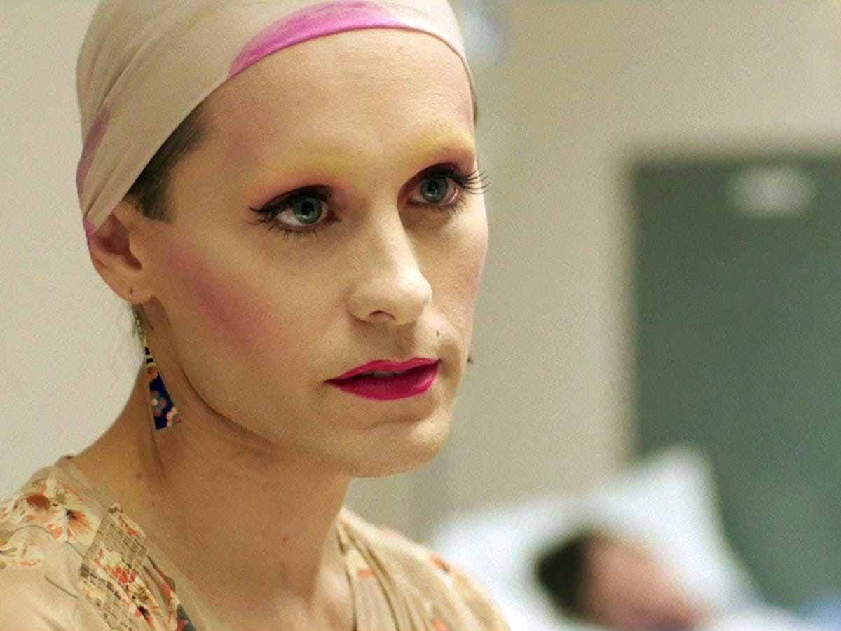 Leto plays a transgender woman with AIDS who teams up with Matthew McConaughey's character to smuggle medication into the US and supply it to fellow patients.