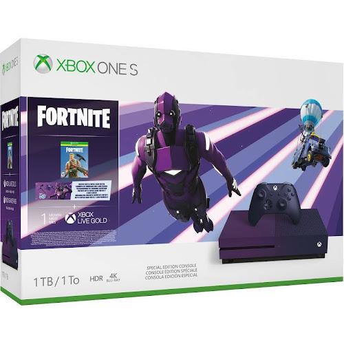 Microsoft Xbox One S Fortnite Battle Royale Bundle - 1 TB - Purple Gradient