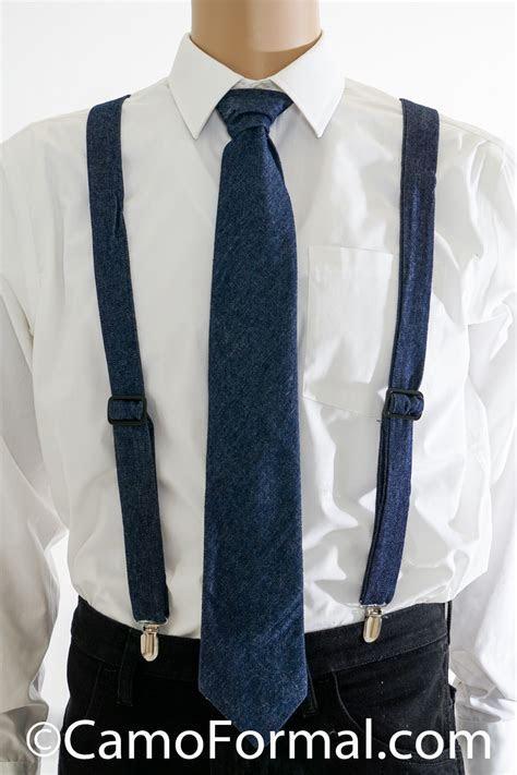 Camo Suspenders & Long Tie   Adult Camouflage Prom Wedding