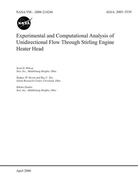 (PDF) Experimental and Computational Analysis of